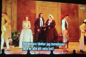 En ögonblicksbild ur operan