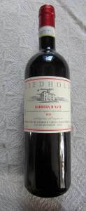 Det goda vinet från Nisse Liedholms vingård. Avnjöts i halvlek med gott tilltugg