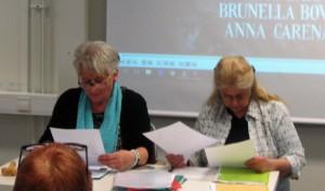 Anne-Marie och Pia begrundar seriöst sina uppdrag